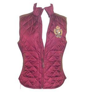 Polo Ralph Lauren maroon Quilted logo  Crest vest
